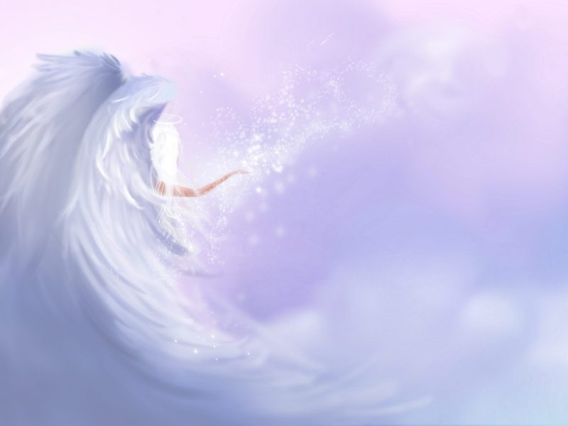 angel wings paint style illustration